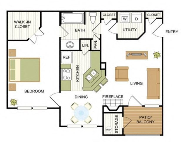 Furnished Units Floor Plan 7