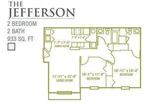 The Jefferson, 2-BR