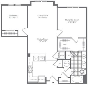 The Flats at Neabsco 976 SQFT 2 Bedroom
