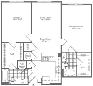 The Flats at Neabsco 2 Bedroom