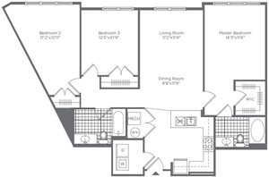 The Flats at Neabsco 1294 SQFT 3 Bedroom