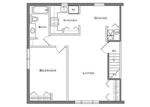 1 Bedroom - Second Floor
