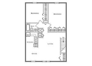 2 Bedroom Classic - Second Floor