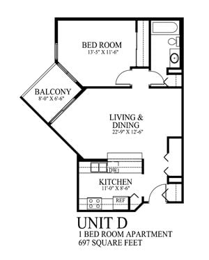 One Bedroom Apartment Cathedral Hill