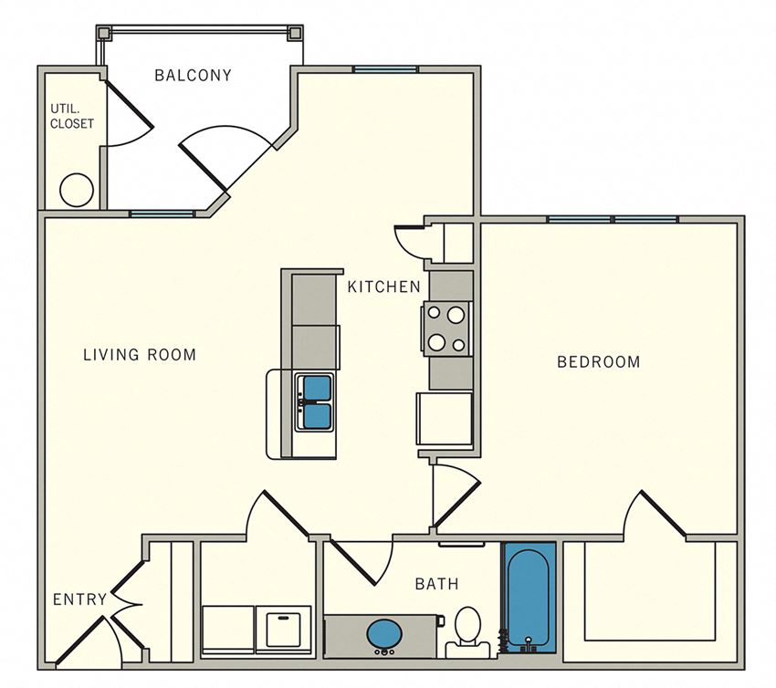 Unit A3 - one bed, one bath at CLEAR Property Management , The Lookout at Comanche Hill Apartments, San Antonio, TX