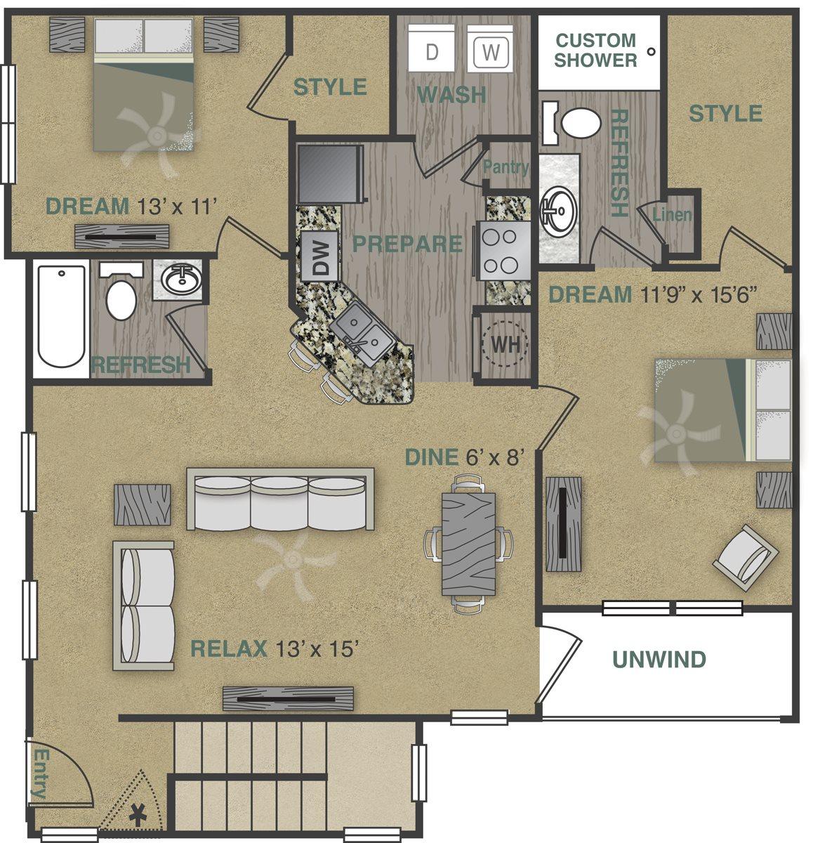 B1UGA Floor Plan 18