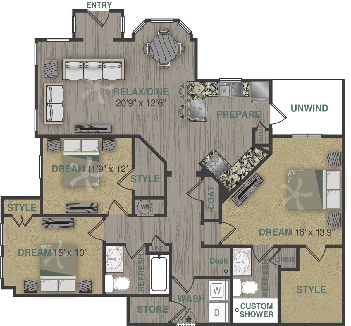 C1LG Floor Plan 15