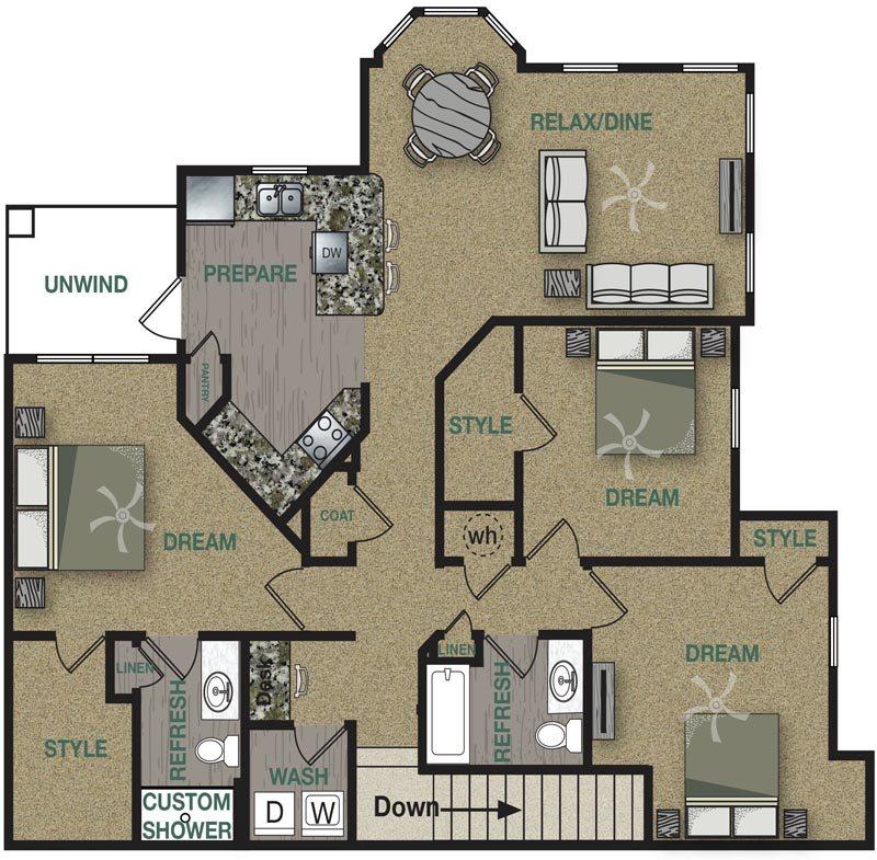 C1U Floor Plan 16