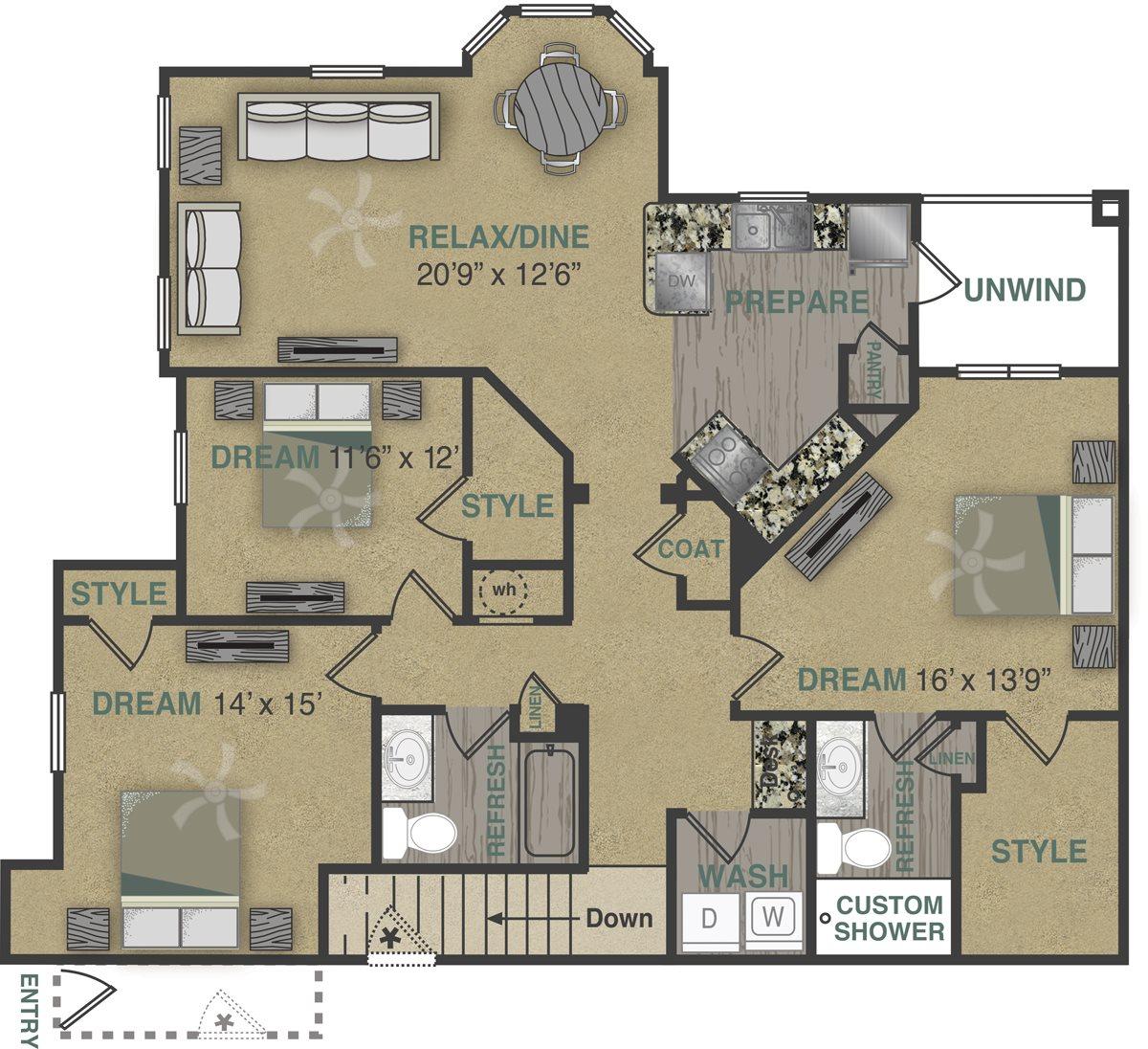 C1UG Floor Plan 17