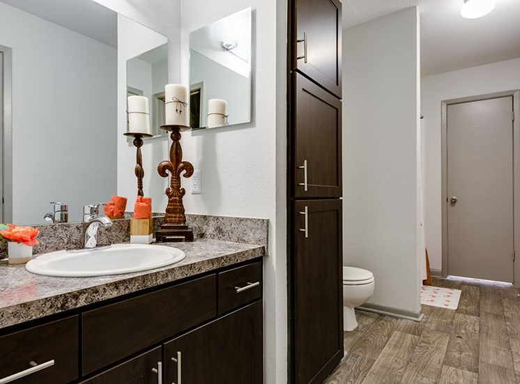 Updated bathroom vanities at Nesbit Palisades, Alpharetta