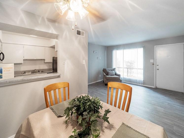 Elegant Dining Space at Carelton Courtyard Apartments, Galveston, TX