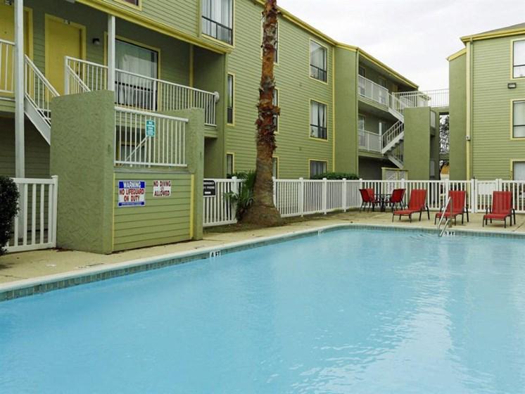 Private Swimming Pool at Carelton Courtyard, Galveston, Texas