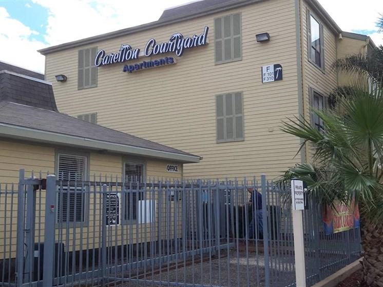Property Sign at Carelton Courtyard, Galveston