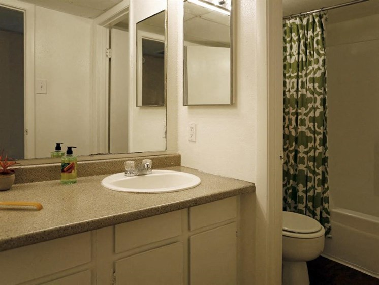 Mirror in Bathroom at Carelton Courtyard, Galveston