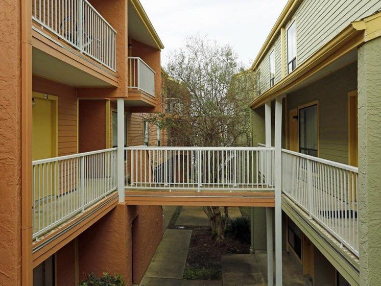 Two Buildings Joined at Carelton Courtyard, Galveston, 77550