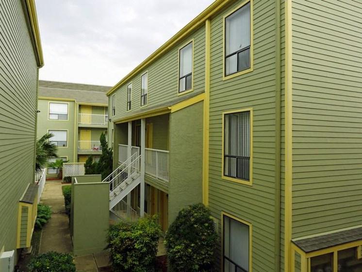 Exterior of building at Carelton Courtyard, Galveston, Texas