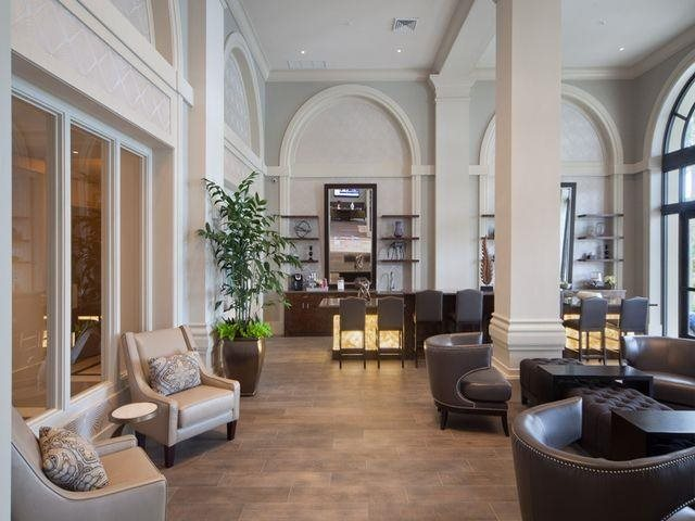 Impressive resident lounge at Windsor at Doral, Miami,FL 33178