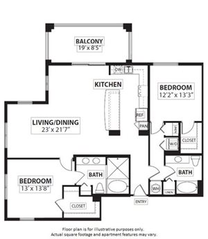 Floorplan at Windsor at Doral,4401 NW 87th Avenue, FL 33178