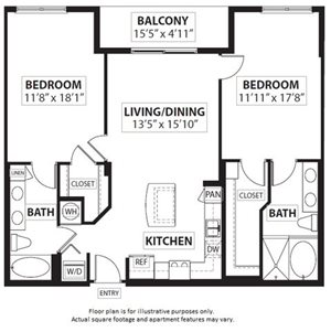 Floorplan at Windsor at Doral,4401 NW 87th Avenue, Miami