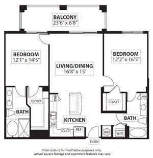 Floorplan at Windsor at Doral,4401 NW 87th Avenue, Miami,FL