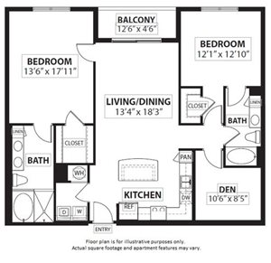 Floorplan at Windsor at Doral,4401 NW 87th Avenue, FL
