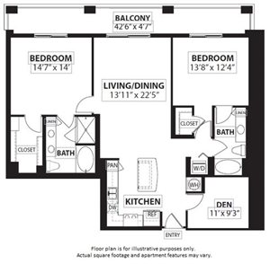 Floorplan at Windsor at Doral, Miami,FL 33178
