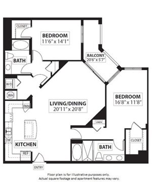 Floorplan at Windsor at Doral,4401 NW 87th Avenue, Miami,FL 33178