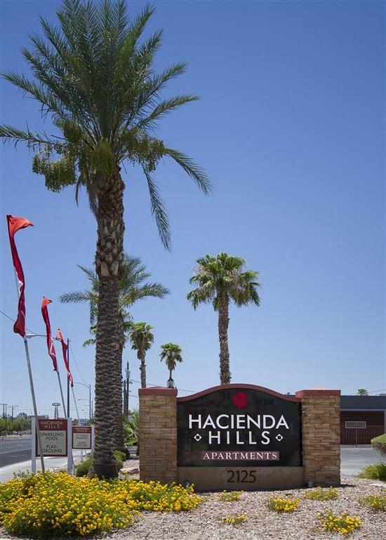 hacienda hills apartments sign