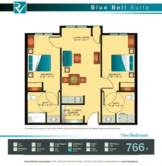 Blue Bell Suite Floorplan
