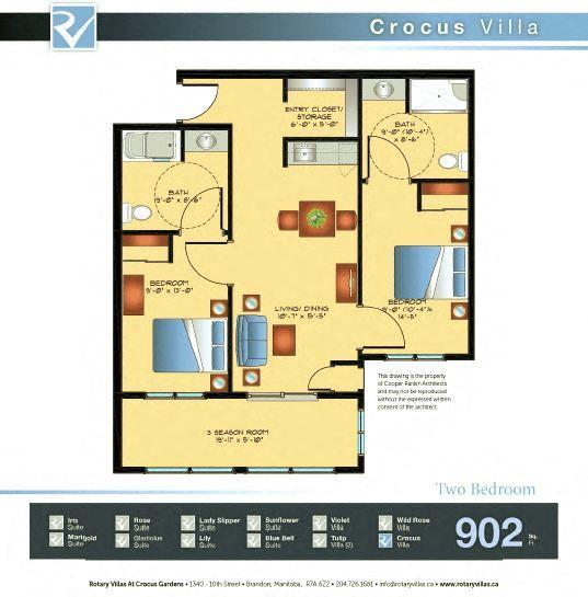 Crocus Villa Floorplan