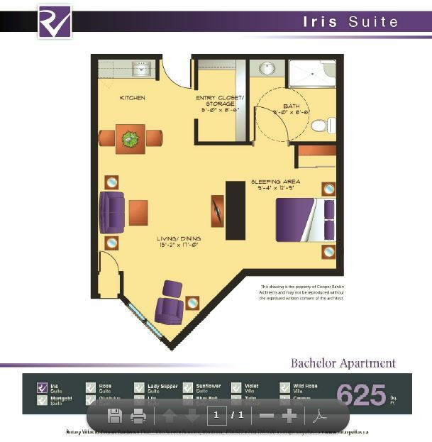 Iris Suite floorplan