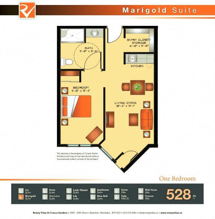 Marigold Suite Floorplan