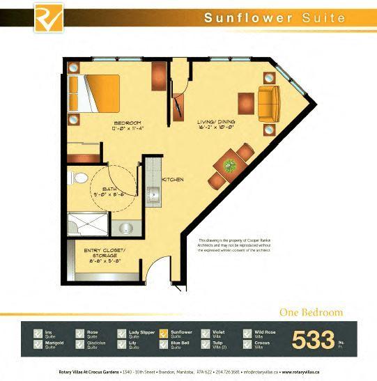 Sunflower Suite Floorplan