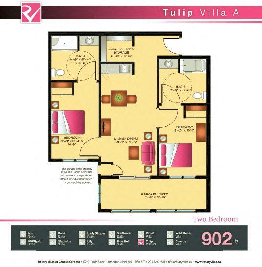 Tulip Villa Floorplan
