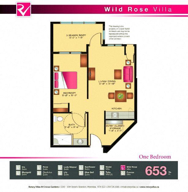 Wild Rose Villa Floorplan