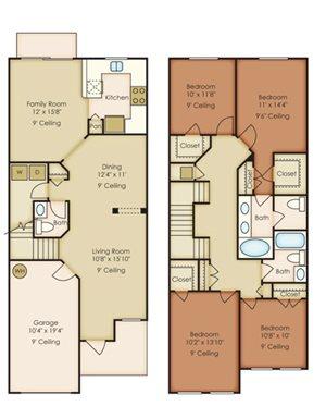 Floor Plan, Palm Breeze at Keys Gate in Homestead, FL 33035