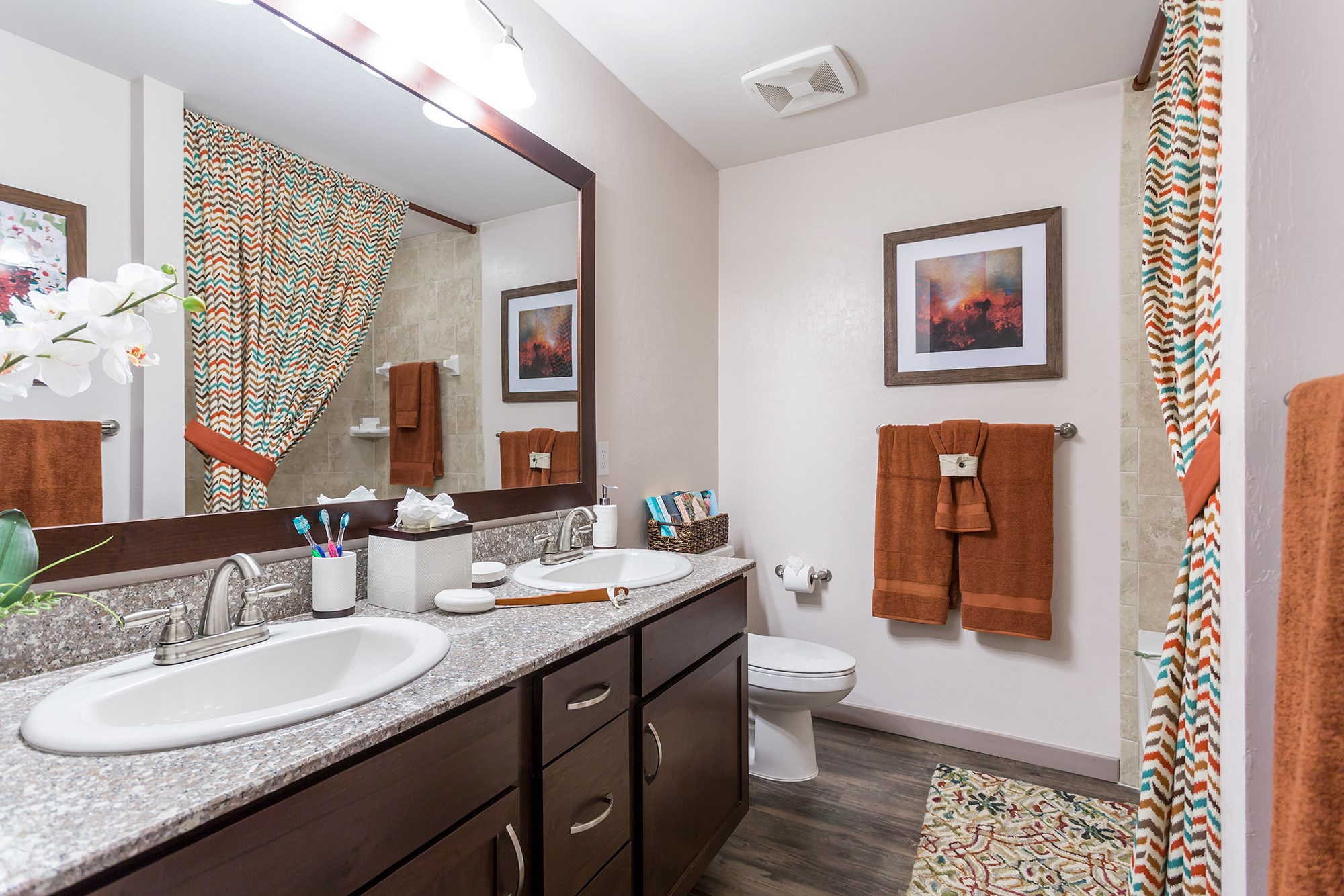 Bathroom at Orchid Run Apartments in Naples, FL