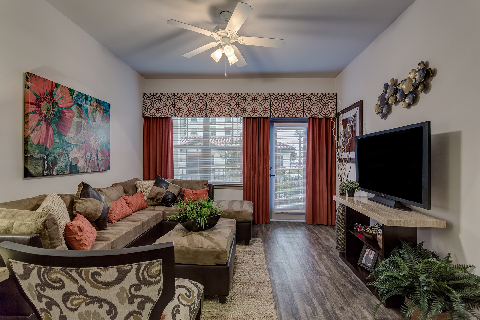 Living Room at Orchid Run Apartments in Naples, FL