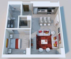 1x1 Penthouse XL