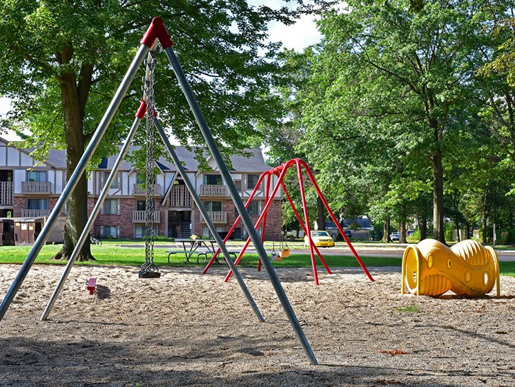 Swing Set at Woodland Place, Michigan, 48640