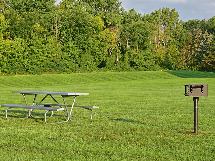 Picnic and Grilling Area at Huntington Place, Essexville, MI, 48732