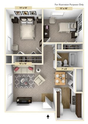 Legacy - Two Bedroom One Bath