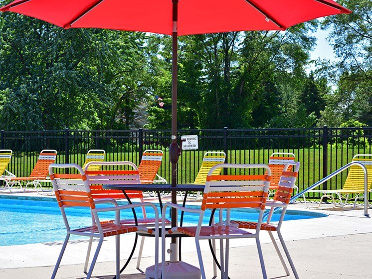Poolside Seating at Huntington Place, Michigan