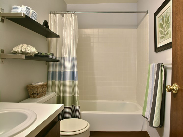 Bathroom with Shelving at Grand Bend at Grand Bend Club, Michigan, 48439