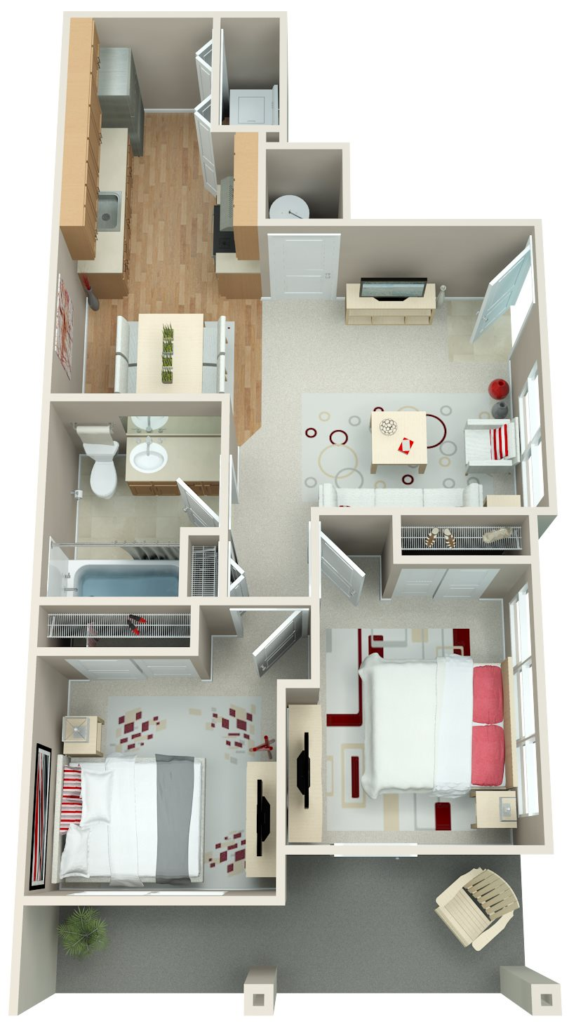 Springwater Crossing_Gresham OR_Floor Plan_Two Bedroom Flat