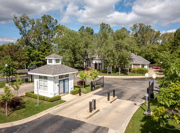 Gated Community Entrance; The Heights in Madison Heights, MI