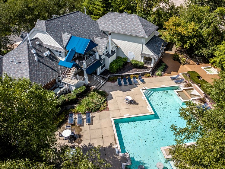 Expansive Sundeck and Pool; The Heights in Madison Heights, MI
