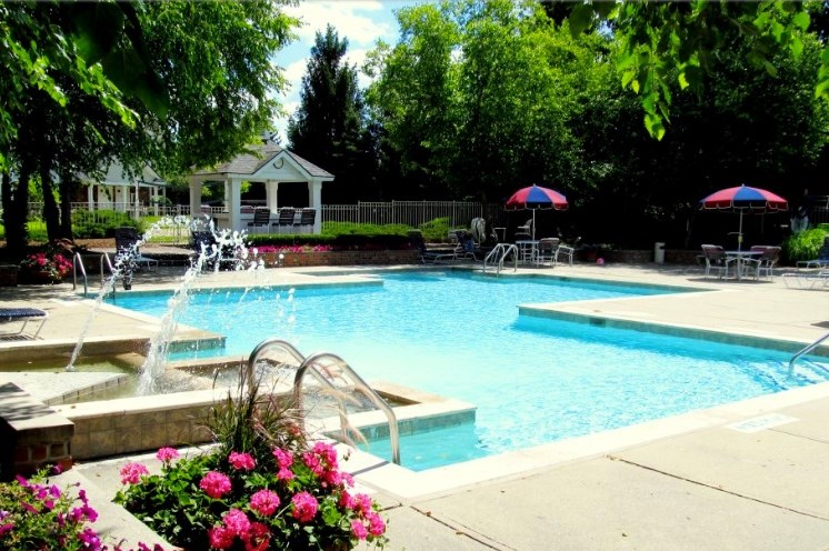 Tranquil Pool; The Heights in Madison Heights, MI