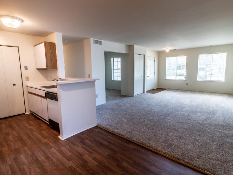 Open Floor Plan at The Heights Apartments in Madison Heights, MI