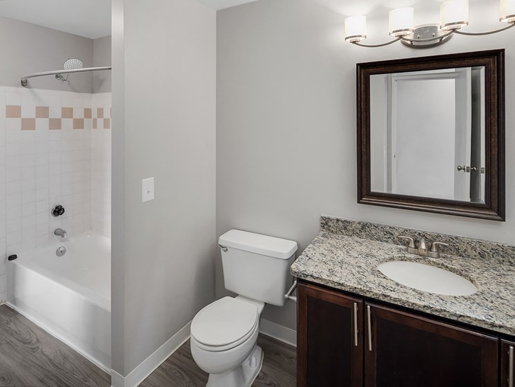 Updated Bathroom at The Heights Apartments in Madison Heights, MI